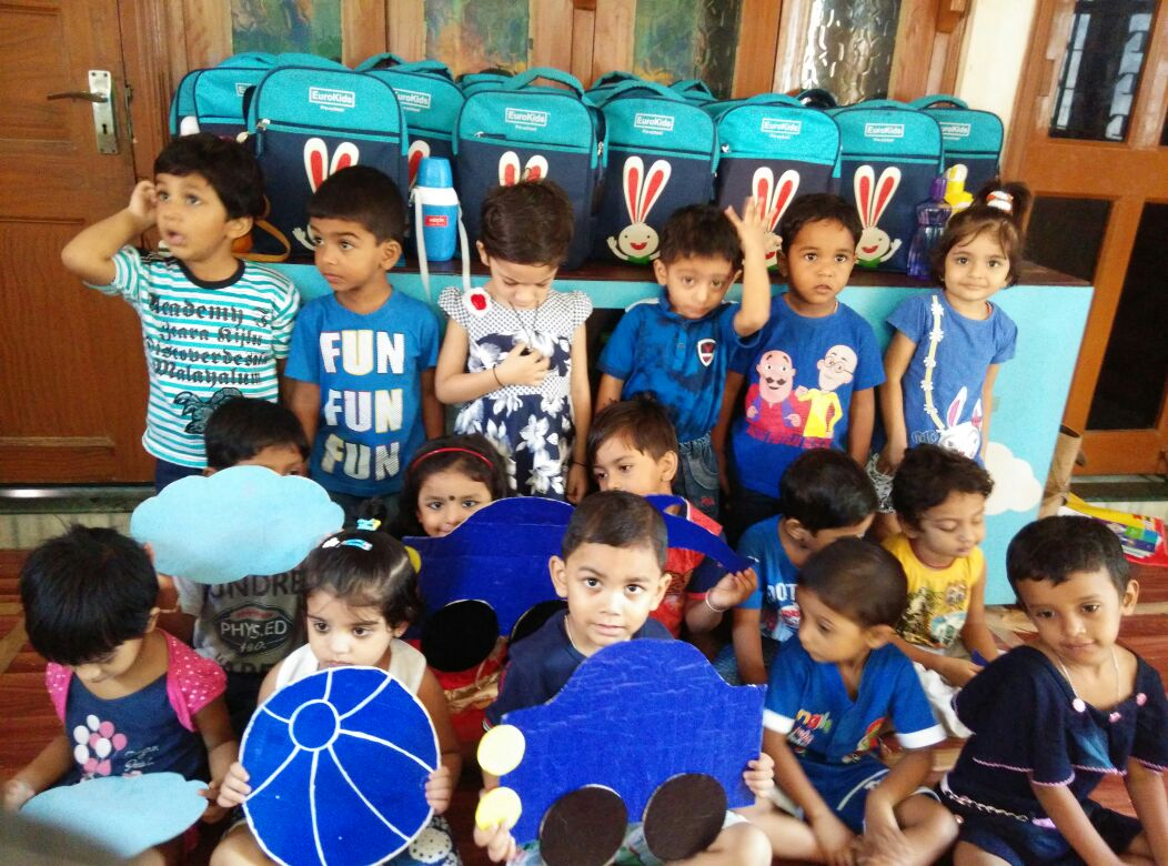 Blue day celebration in Eurokids netaji nagar school