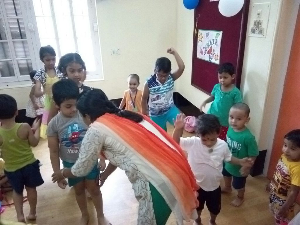 Yoga activity in summer camp
