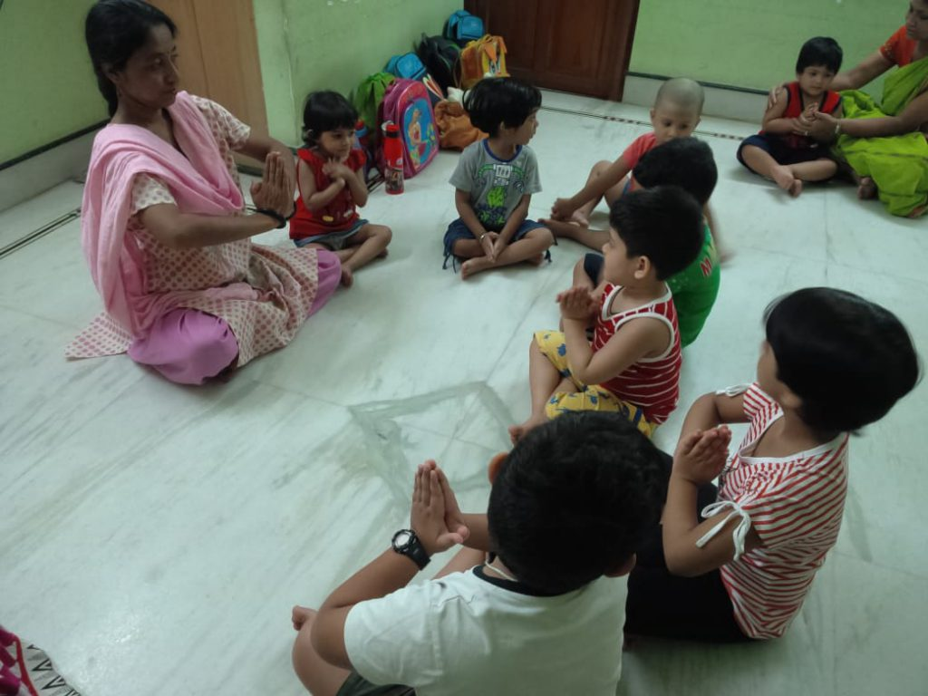 Yoga in summer camp